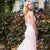 Light Pink Beaded Prom Dresses, Charming Tulle Mermaid V-Back Prom Dresses, KX535