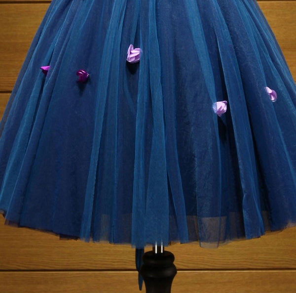 Short Homecoming Dress, Tulle Homecoming Dress, V-Neck Homecoming Dress, Applique Junior School Dress, Sleeveless Graduation Dress, Knee-Length Homecoming Dress, LB0625