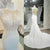 Charming Elegant See Through Back White Mermaid Lace Long Bridal Wedding Dress, WG634