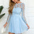 Chiffon Homecoming Dress, V-Back A-Line Lace Long Sleeve Homecoming Dress, LB0637