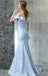 Off Shoulder Prom Dress, Mermaid Lace Prom Dress,Formal Prom Dress, LB0673