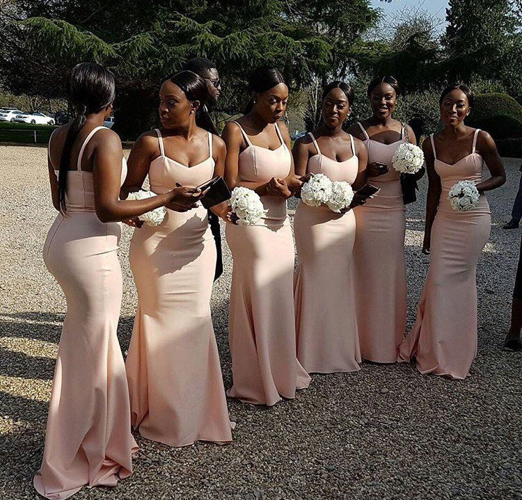 Sleeveless Bridesmaid Dress, Satin Mermaid Bridesmaid Dress, Sexy Floor-Length Bridesmaid Dress, LB0742