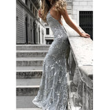 Lace Mermaid Tulle Prom Dress, Sexy Backless Prom Dress, Most Popular Evening Dresses, LB0753