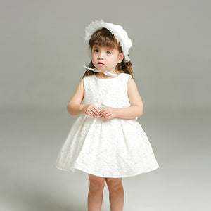 Lace Flower Girl Dresses with Knot-Bow, Popular Little Girl Dresses, KX761