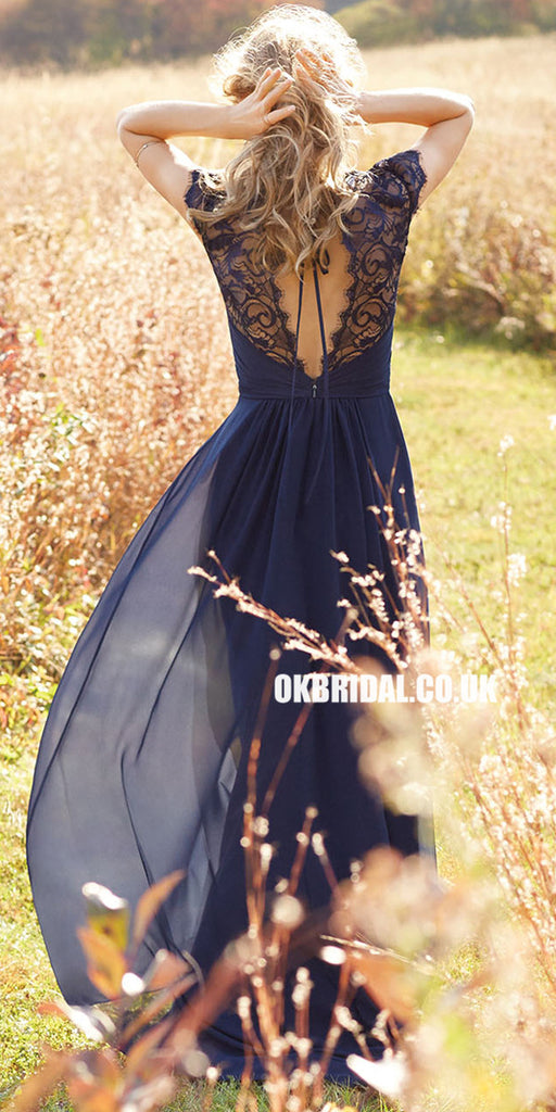 Long Bridesmaid Dress, Chiffon Bridesmaid Dress, Sleeveless Bridesmaid Dress, Dress for Wedding, Lace Bridesmaid Dress, Floor-Length Bridesmaid Dress, LB0794