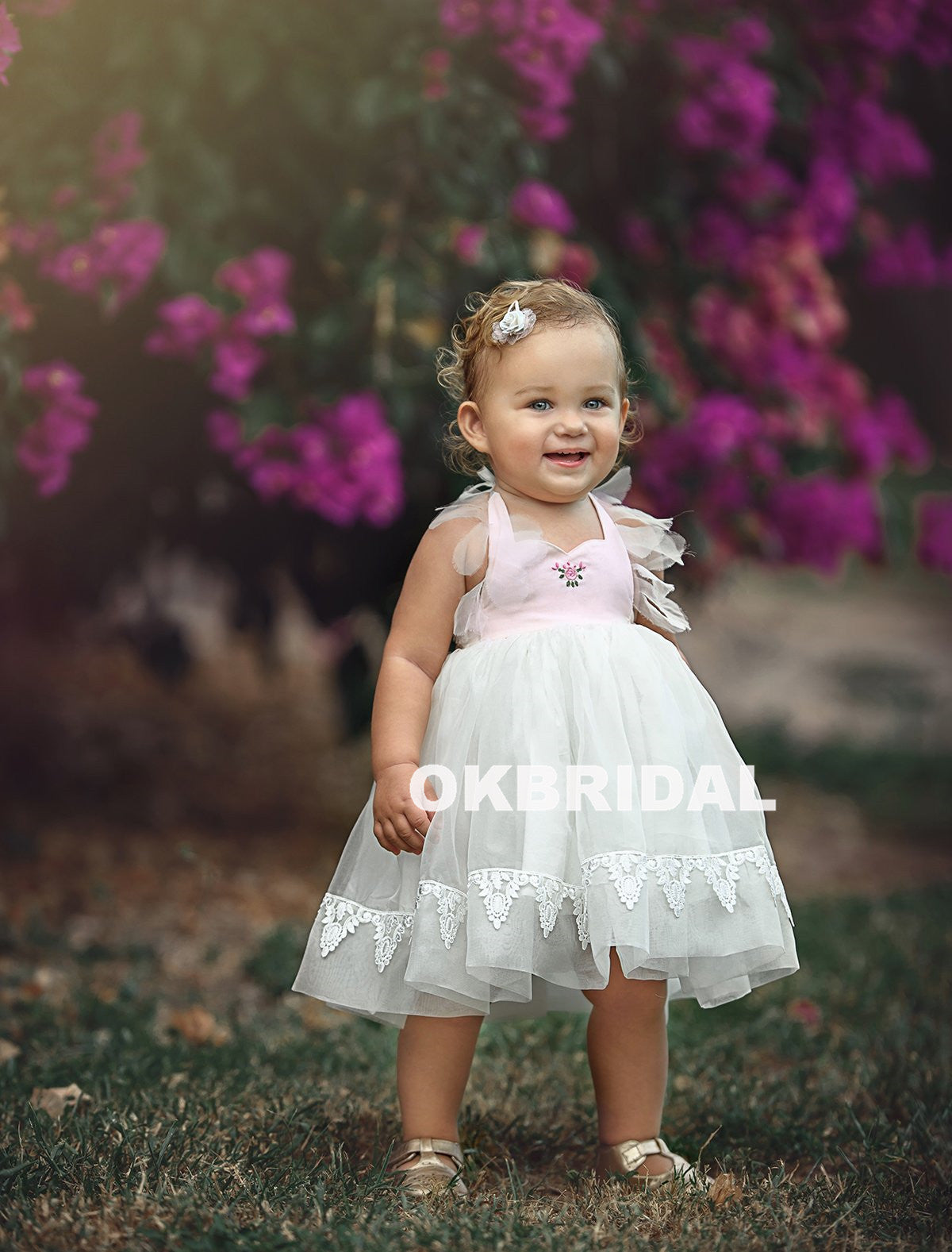 Cute tulle lace backless flower girl dresses cheap little girl cute tulle lace backless flower girl dresses cheap little girl dresses kx799 izmirmasajfo