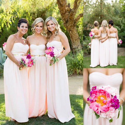 Long Bridesmaid Dress, Chiffon Bridesmaid Dress, Sweet Heart Bridesmaid Dress, Dress for Wedding, Floor-Length Bridesmaid Dress, LB0814