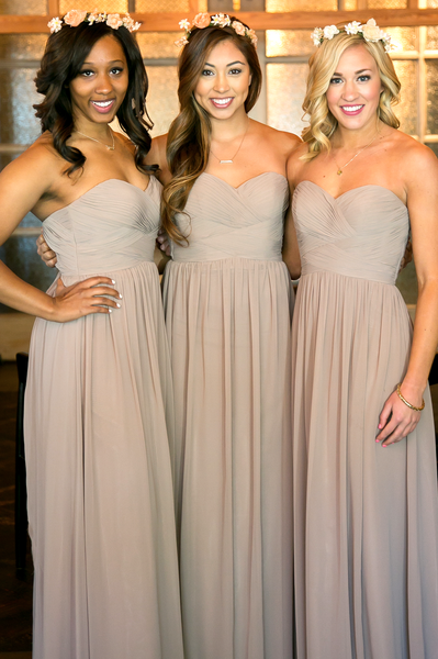 Chiffon Sweet Heart Bridesmaid Dress, Simple Floor-Length Bridesmaid Dress, LB0823