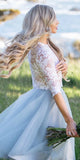 Short Homecoming Dress, Lace Homecoming Dress, Knee-Length Homecoming Dress, Tulle Homecoming Dress, Two Pieces Junior School Dress, LB0845