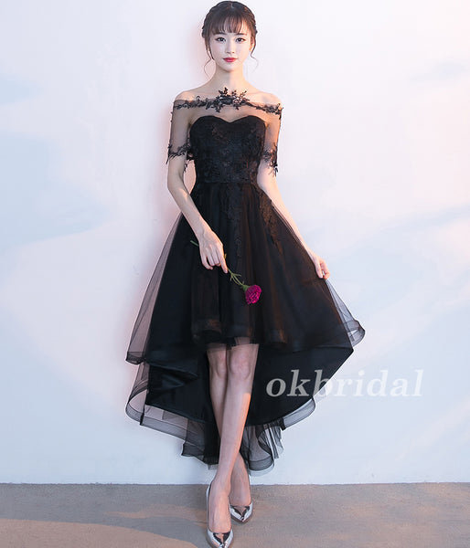 ee71610fb3f High-Low Tulle Unique Homecoming Dress