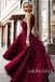 High-Low Prom Dress, Lace Prom Dress, Halter Prom Dress, Sleeveless Prom Dress, Red Prom Dress, LB0878