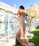 Charming Silk Elastic Satin Mermaid Backless Inexpensive Bridesmaid Dresses, FC2290