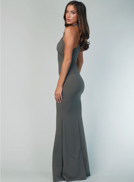 Elegant Mermaid Double FDY Sleeveless Floor-Length Bridesmaid Dress, FC2733