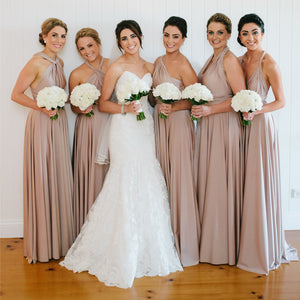 A-Line Different Styles Bridesmaid Dress, Cheap Floor-Length Convertible Bridesmaid Dress, KX954
