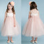 Simple Tulle Backless Flower Girl Dresses, Popular Little Girl Dresses, KX1154