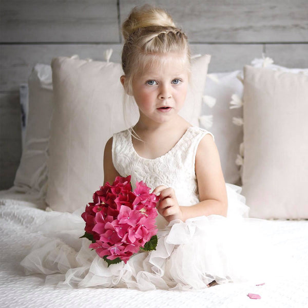 3ad7ec96f0f Lace Top Adorable Flower Girl Dresses