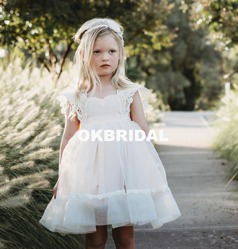 Cheap tulle lace flower girl dresses simple backless popular little cheap tulle lace flower girl dresses simple backless popular little girl dresses kx986 izmirmasajfo