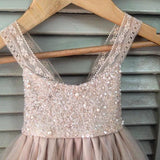 Strap Beaded Sequin Top Tulle A-line Flower Girl Dresses, Lovely Little girl Dresses, FG066