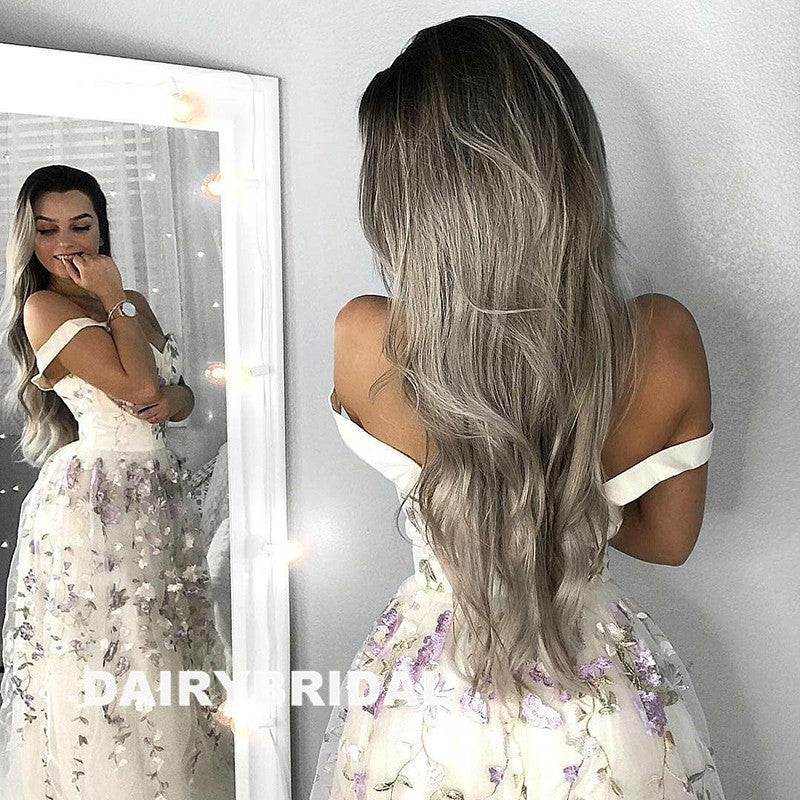 Long Prom Dresses, Sleeveless Prom Dresses, A-Line Party Prom Dresses, Tulle Prom Dresses, Applique Prom Dresses, Sexy Prom Dresses Online, LB0306