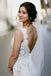 Gorgeous Mermaid Lace Seeveless Sweep Train Backless Wedding Dresses, FC1487