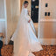 Elegant A-line Long Sleeve Simple Wedding Dresses, FC2027