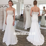 Lace Top Mermaid Sweet Heart Wedding Dress, Vintage Sexy Backless Wedding Dress, LB0752