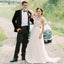 A-Line Tulle Newest Wedding Dress, Beaded Backless Sleeveless Wedding Dress,  KX1328