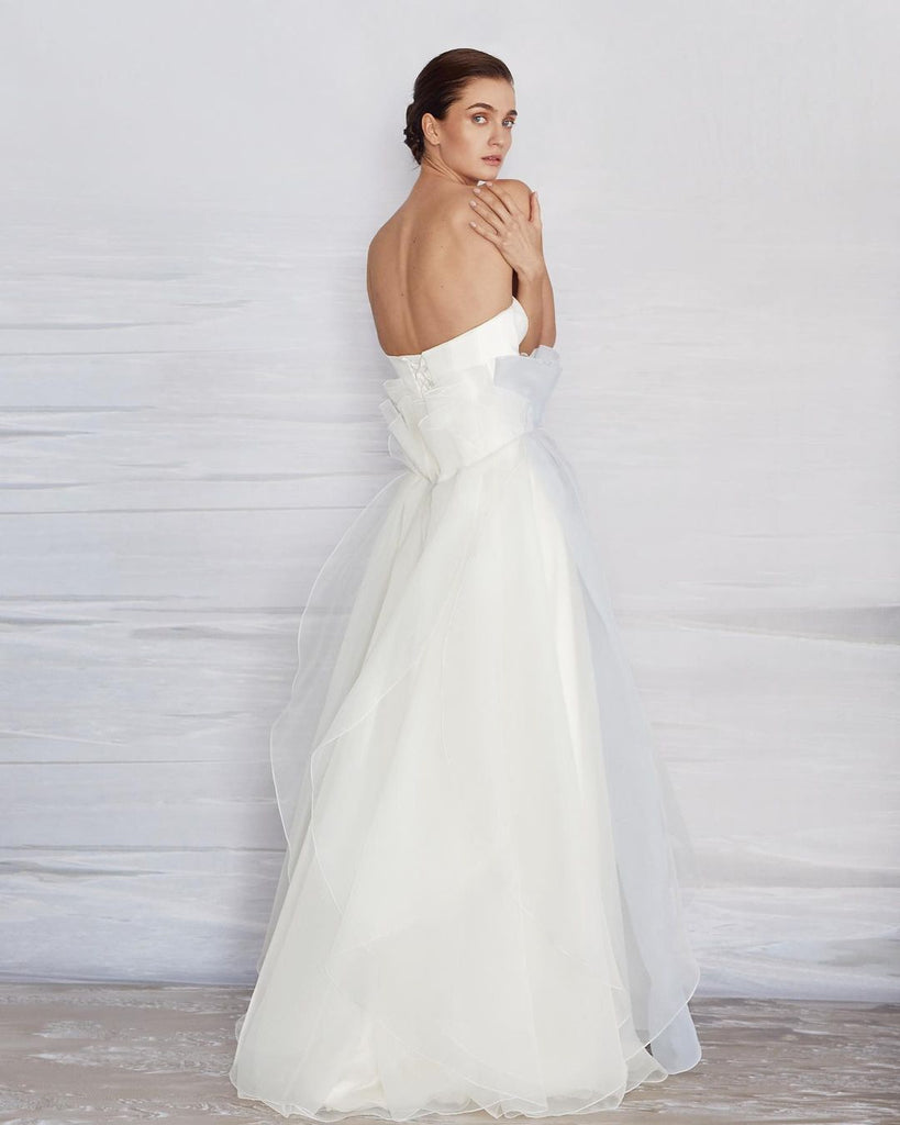 Gorgeous A-line Organza Sweetheart Backless Wedding Dresses, FC4787