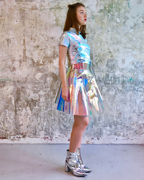 Holographic rainbow  Skirt