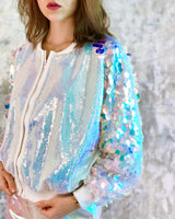 Disco Sequin Bomber Jacket