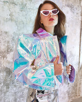 Holographic unicorn oversize  short jacket !