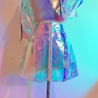 Holographic transparent skirt !