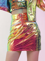 Metallic holographic skirt !