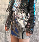 Metallic mirror skirt