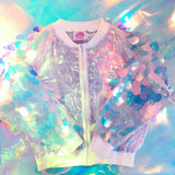 Disco Sequin sleeve Bomber Jacket