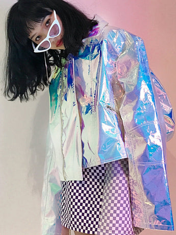 Holographic unicorn oversize jacket !