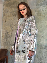 Mirror oversize long jacket
