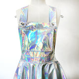 Holographic suspender Sparkle Flare Skater Dress