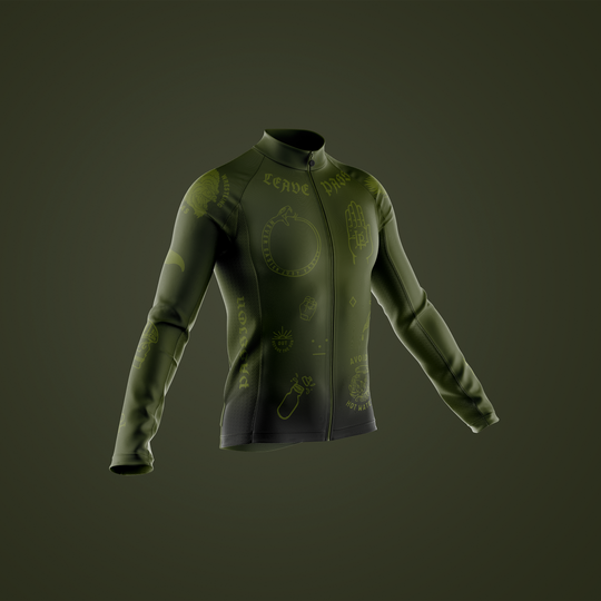 Olive Long Sleeve Winter Minimal Jersey - Pre-Order Only