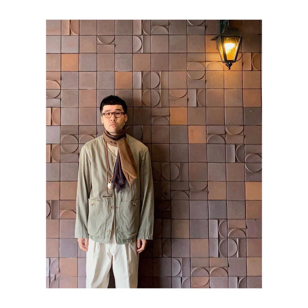 Japanese Fashion Guru Toshihiro Yasutake Wears the Peat Scarf