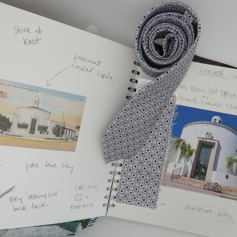 Sketch book for Lovewell print tie