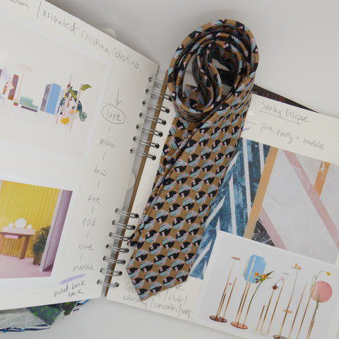 sketch book for tie design