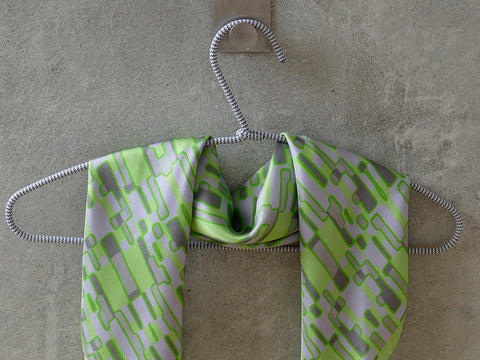 Field Trip silk scarf green