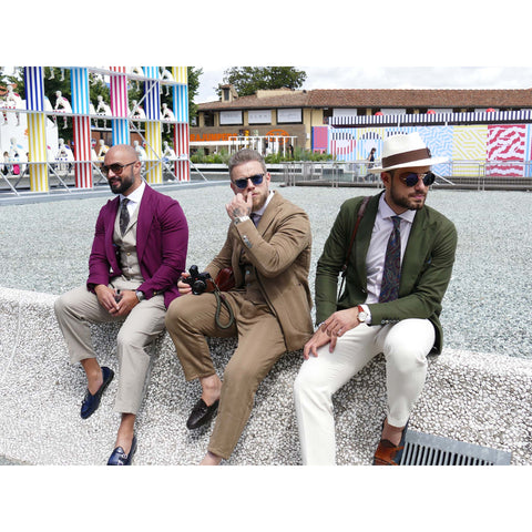visitors at Pitti Immagine Uomo. Photo by Niki Fulton