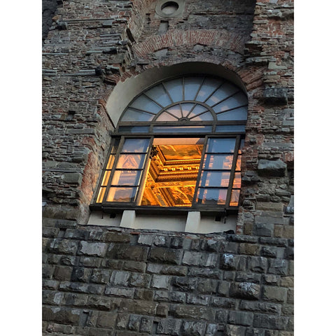 Evening window in Florence during Pitti. Photo Niki Fulton