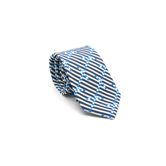 Breton Signal silk twill tie designed by Niki Fulton.Made in Great Britain