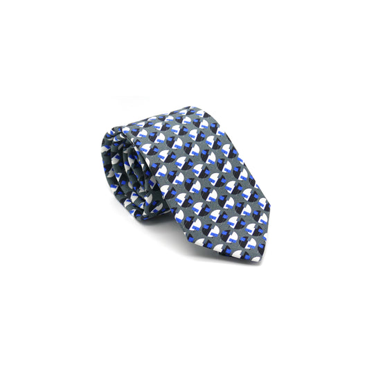 Eclipse silk twill tie designed by Niki Fulton. Made in Great Britain