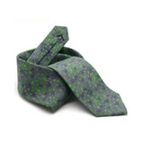 Fennel Tangle silk tie designed by Niki Fulton. A green floral print