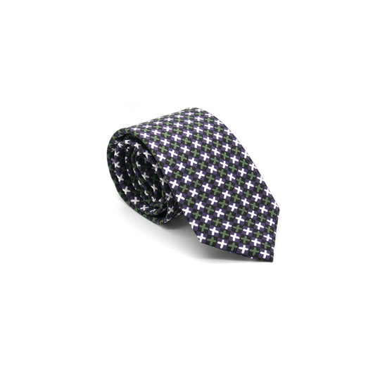 Kiss Kiss silk twill tie designed by Niki Fulton Made in Great Britain