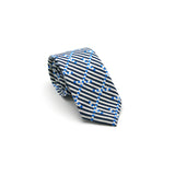 luxury linen tie Breton Signal designed by Niki Fulton Scotland